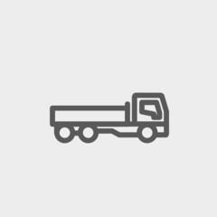 Cargo truck thin line icon