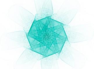 Colorful fractal rings, digital artwork