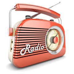 Retro radio orange