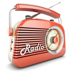 Retro radio orange
