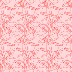 Seamless wallpaper pattern with of collection roses