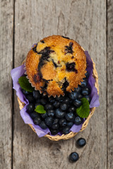 Blueberry Muffins. Selective focus.