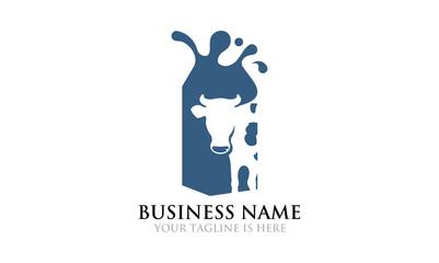 Fresh Whole Milk Logo Template