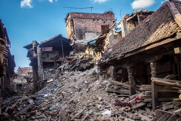 Zerstörung nach de Beben 2015