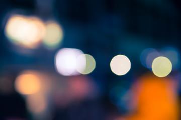 Defocused blur bokeh of urban at night background
