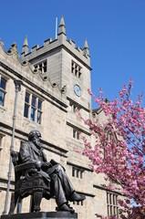 Darwin statue and library, Shrewsbury.