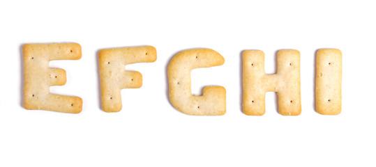 Alphabet cookies