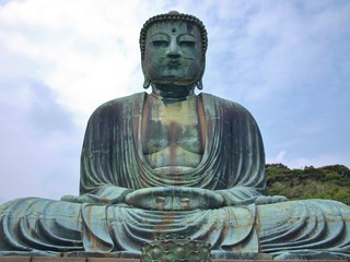 Giant Buddha in Kamakura, Kanagawa Prefecture, Japan.