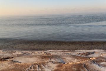 Ice near the sea