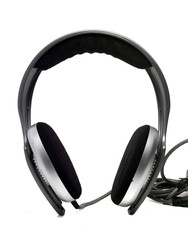 full-size monitor headphones gray on a white background