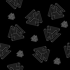 pattern of impossible shapes, triangles