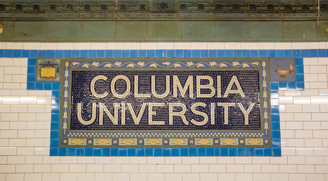 Subway sigh Columbia University