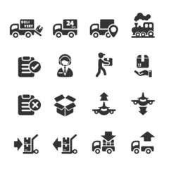 logistic icon set 5, vector eps10