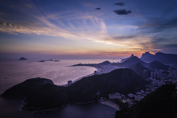 Aerial Panorama of Rio De Janeiro  by dusk