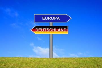Wegweiser: Europa Deutschland