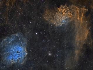 Nebulosa de la Llama, Paleta de colores Hubble