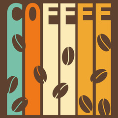 bright illustration on the theme of coffee time for design