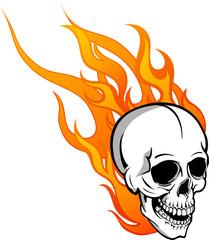 teschio on le fiamme