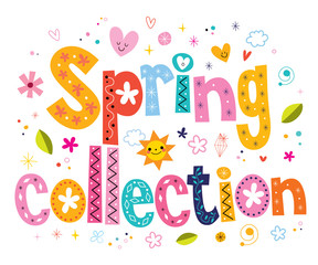 spring collection lettering decorative text