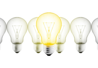 think idea light bulb
