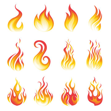 flame vector set