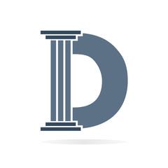 Letter D logo or symbol icon