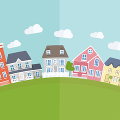 Vector small town background