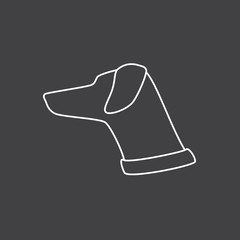 Lop-eared dog`s head logo template