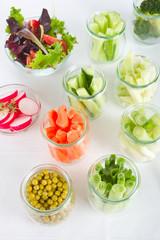 Frische Gemüsesticks