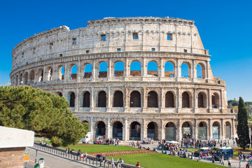 Wall Mural - Colosseum is an iconic symbol of Imperial Rome. Italy.
