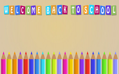 Vector Back ground for Back to School.