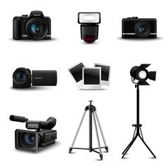 Realistic Camera Icons