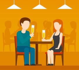 Date In Restaurant