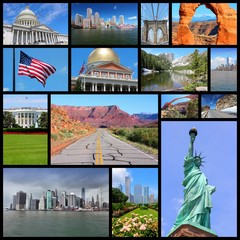 Photos of USA - travel collage