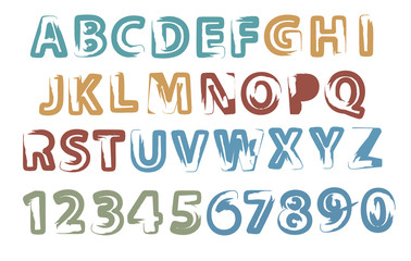 painted letters and digits