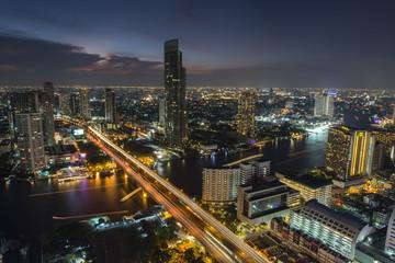 Bangkok City April 5 : Top view city on April 5, 2015 in Bangkok