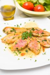 Triglie in umido, Surmullet soup, Mediterranean Cuisine