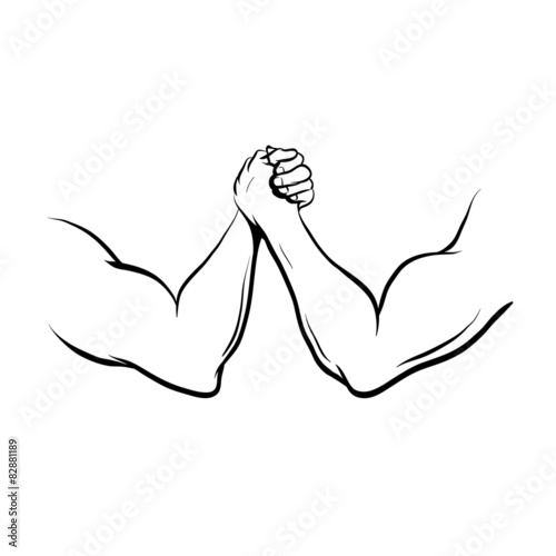 quotarm wrestling fight vector illustrationquot �� ����� ��������