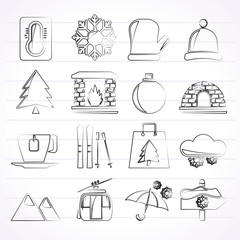 Winter, Sport and relax icons