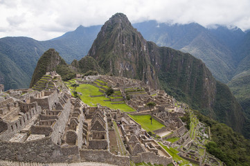 Zona arqueológica de Machu Picchu en Perú