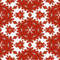 Detailed red orange fractal in popular colorful graphics