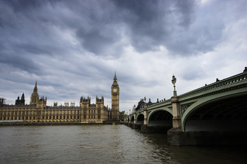 Fototapete - London skyline include Westminster Palace and Big Ben