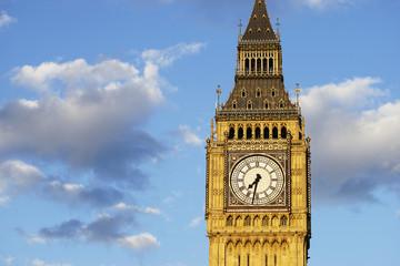 Fototapete - Big Ben, closed up, at sunset