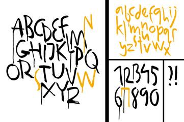 Modern Vector Grunge Alphabet