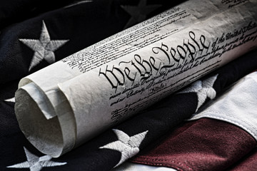 We the people - Constitutional document and flag