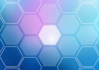 Abstract colorful background of hexagonal shapes