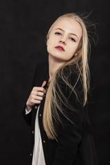 luxury blond girl