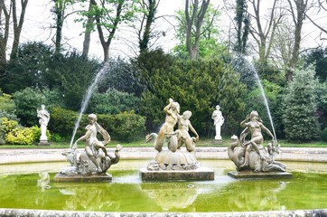 Statues in Classical Fountain