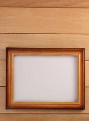 photo frame on wood