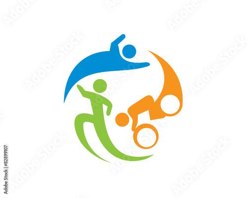 quottriathlon logo templatequot stock image and royaltyfree